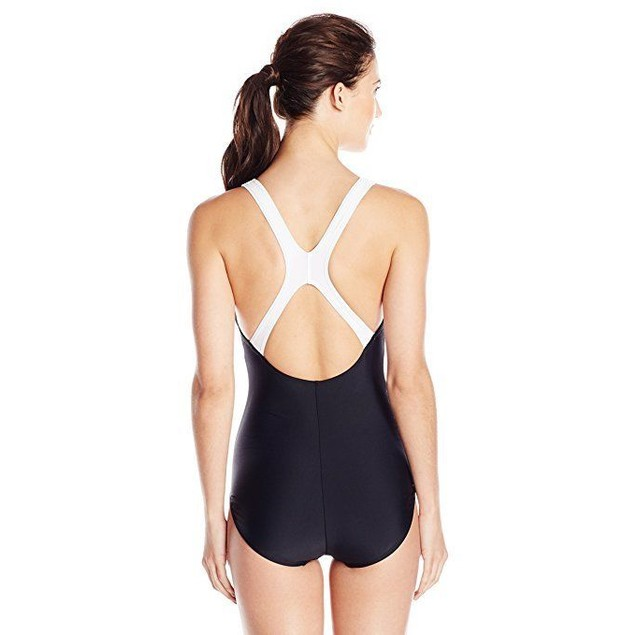 Speedo Contemporary Ultraback One-Piece Swimsuit,Black,sz: 16