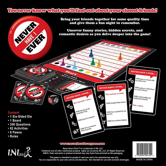Never Have I Ever Board Game, More Games by INI