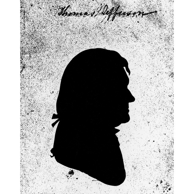 Thomas Jefferson (1743-1826). /Nthird President Of The United States. Silho
