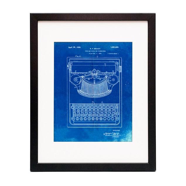 Portable Typewriter Patent Poster