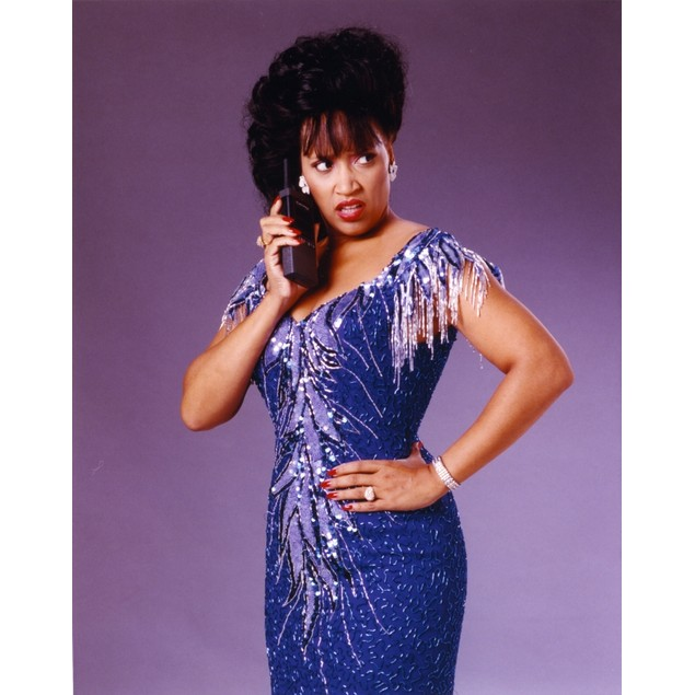 Jackee wearing a Beaded Dress, Talking on Telephone Poster