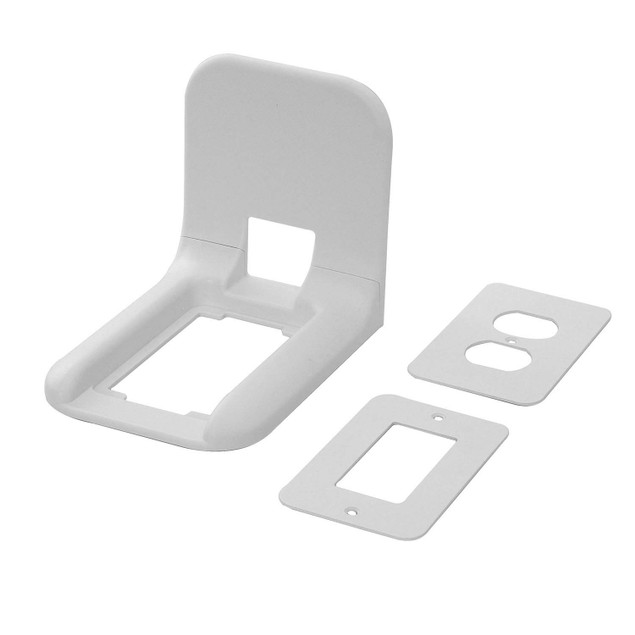 2-Pack White Wall Outlet Shelf