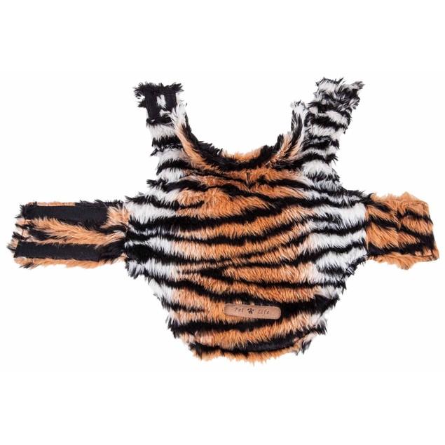 Pet Life Luxe 'Tigerbone' Tiger Patterned Mink Fur Dog Coat Jacket