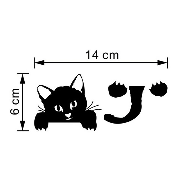 Cat Lightswitch Wall Decal Sticker