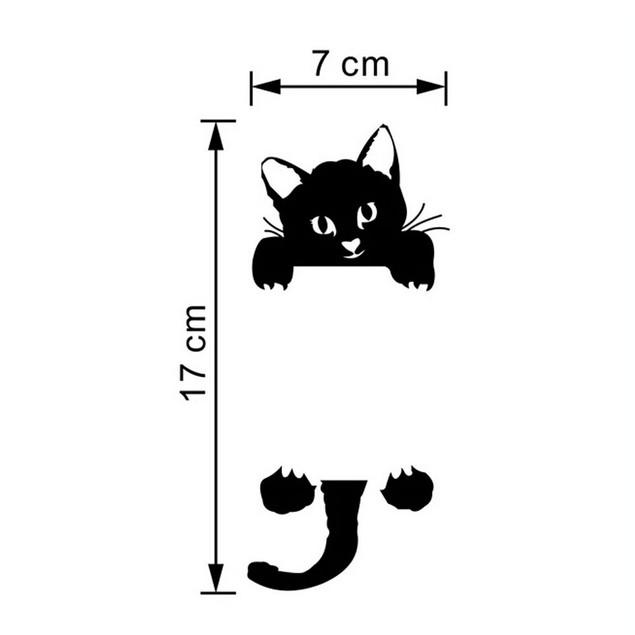 Cat Lightswitch Wall Decal Sticker