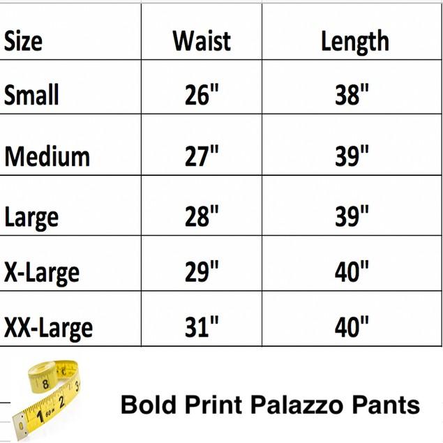 Bold Print Palazzo Pants