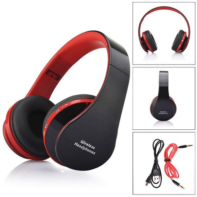 Foldable Wireless Bluetooth Stereo Headset Handsfree Headphones Mic