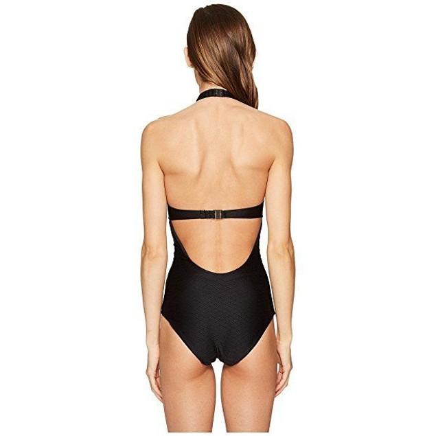 onia Women's Heather One-Piece Textured Black Swimsuit $195  SIZE MEDI
