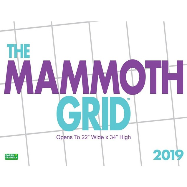 Mammoth Grid Wall Calendar, Big Grid by Calendars