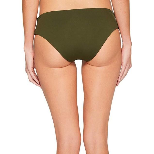 Becca by Rebecca Virtue Women's Tab Side Hipster Bikini Bottom Bay Leaf L