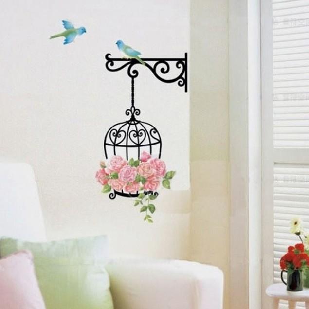 Flower Bird Wall Decal Sticker Home Decor Vinyl Removeable Mural Sticker