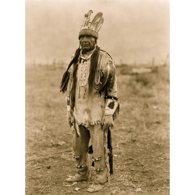 Klamath Indian, full-length portrait, standing, facing front. Poster
