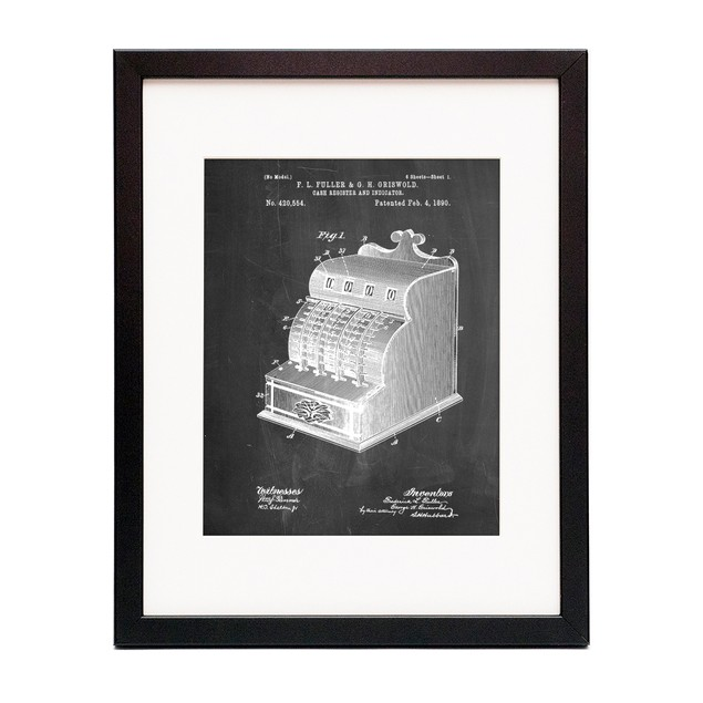 Vintage Cash Register 1890 Patent Poster