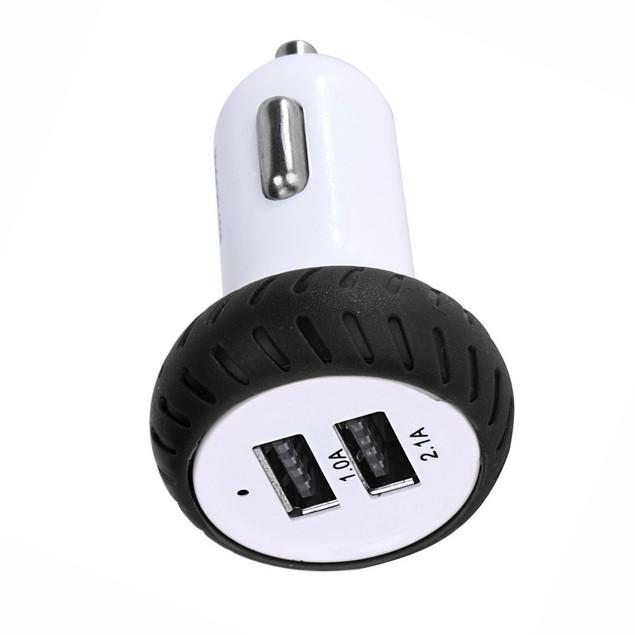 Mini Dual 2 Port 12V USB Auto In Car Charger