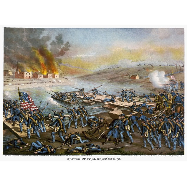 Battle Of Fredericksburg. /Nthe Army Of The Potomac Crossing The Rappahanno