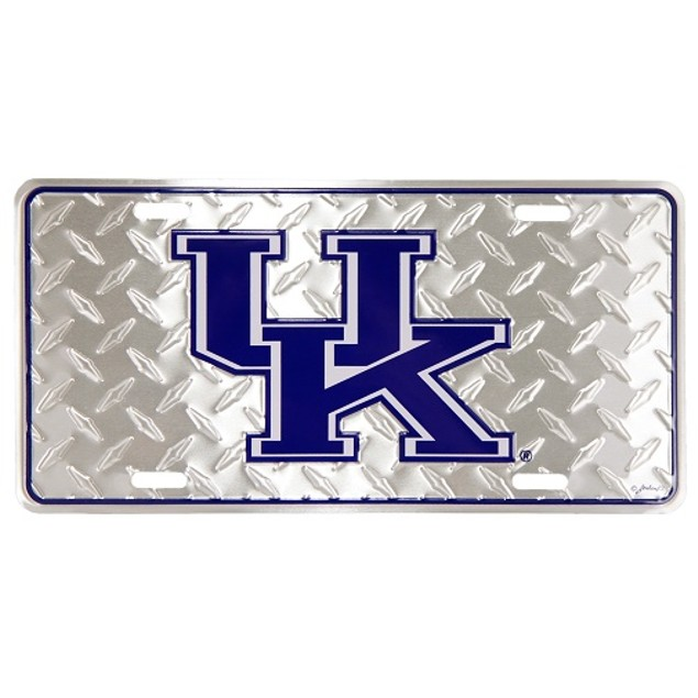 "Kentucky Wildcats NCAA ""Diamond"" License Plate"