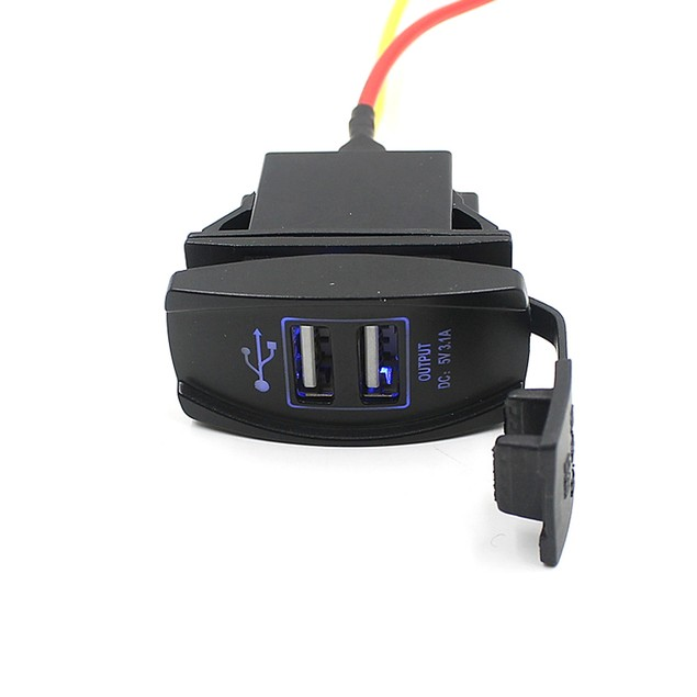 Car Auto Dual USB Charger Power Adapter LED Outlet