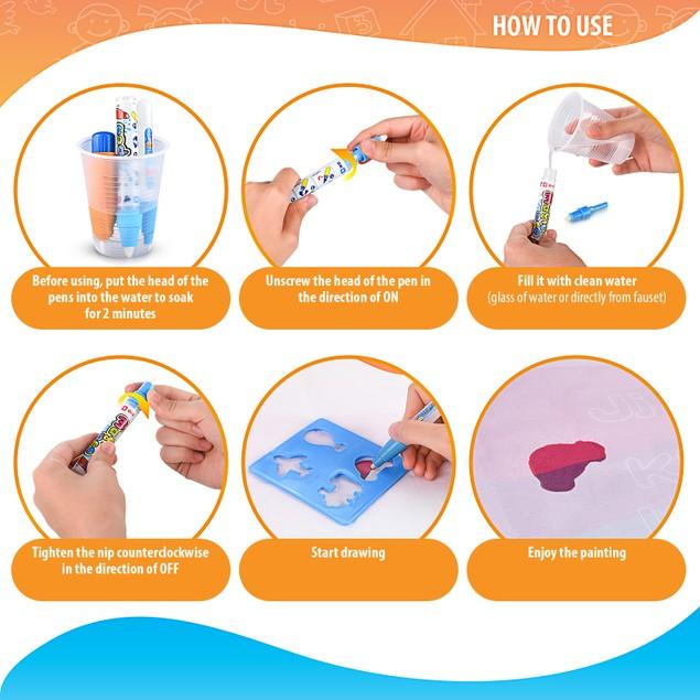 Briteway Magic Aqua Board Large Water Drawing Mat for Kids