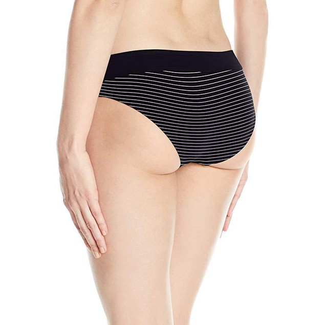 Carve Designs Women's Catalina Swim Bottom, Black Aruba Stripe, Medium