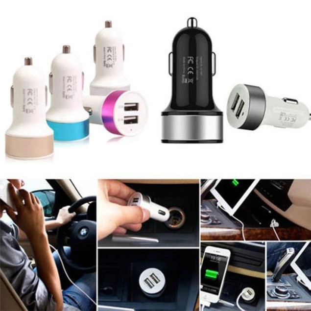 2 Port Mini Dual USB Car Charger
