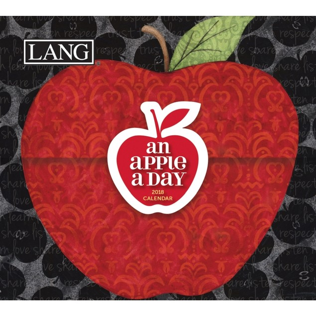 """LANG - 2018, 365 Daily Thoughts Box Calendar - """"An Apple A Day"""", Artwork by"""
