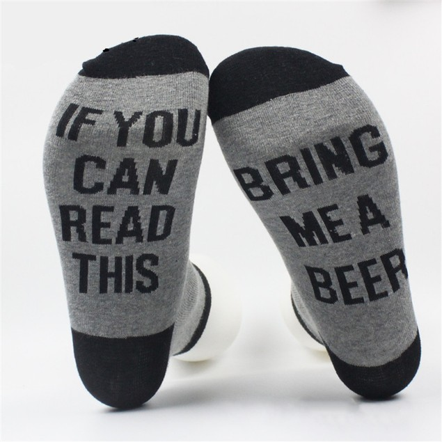 """""""If You Can Read This, Bring Me a Drink"""" Cotton Socks"""