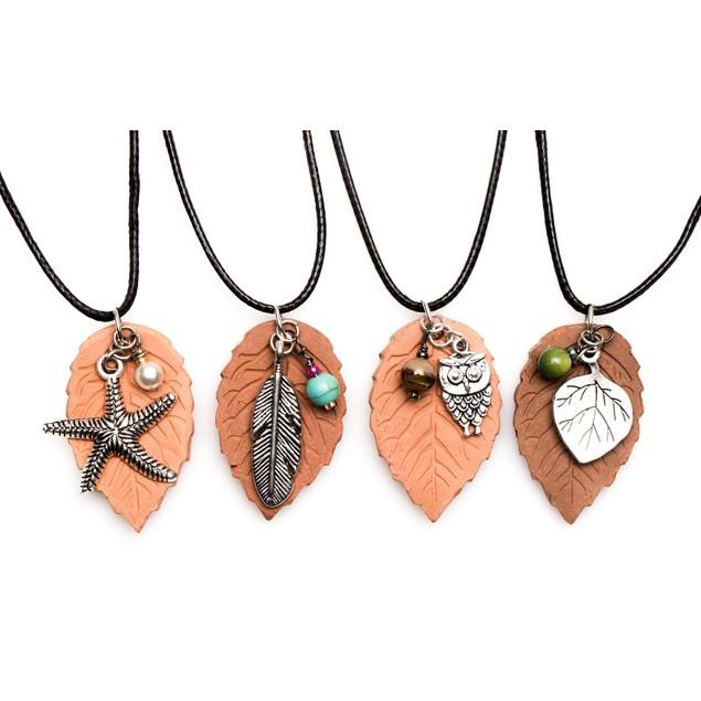 Terracotta Pendant Essential Oil Diffuser Necklace