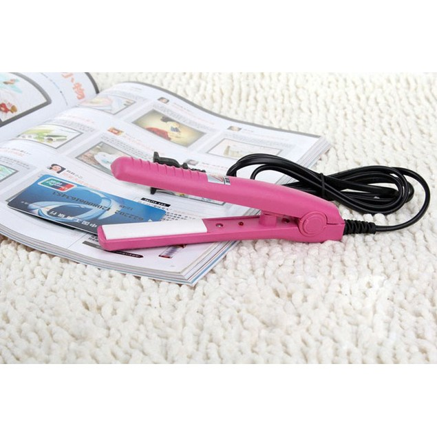 Mini Travel  Woman Ceramic Portable Ceramic Hair Straightener