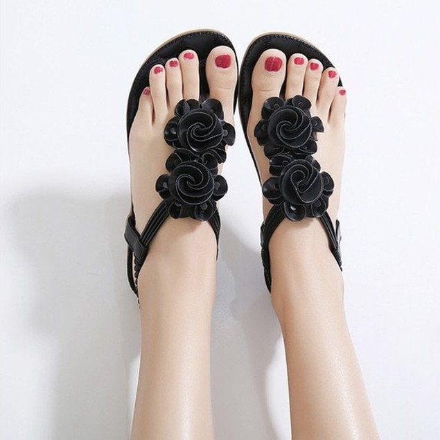 Comfy sandals - Flower Casual Beach Womens Flat Sandals