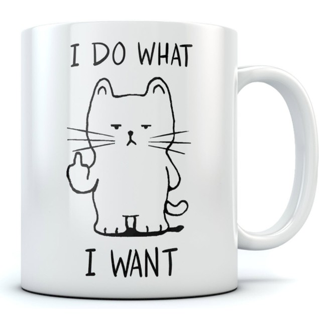 I Do What I Want Cat Funny 11 oz Coffee Mug