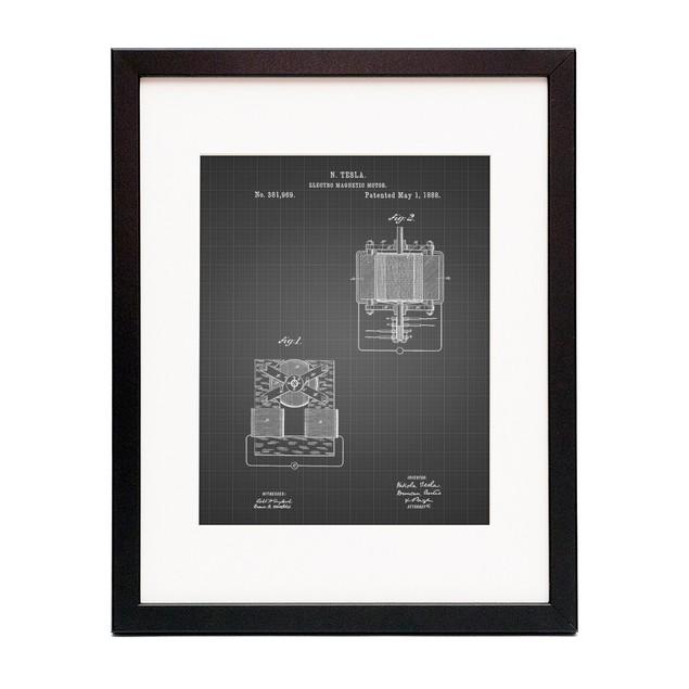 Tesla Electro Magnetic Motor Poster