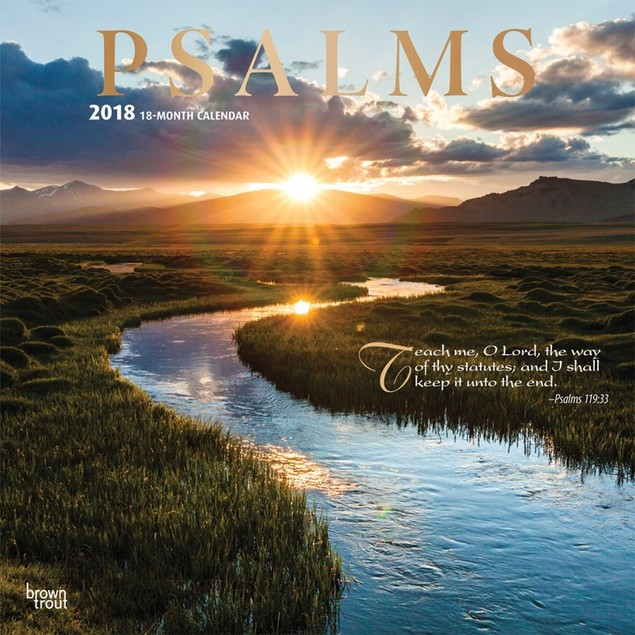 Psalms Wall Calendar, Christian by Vista Stationery & Print Ltd