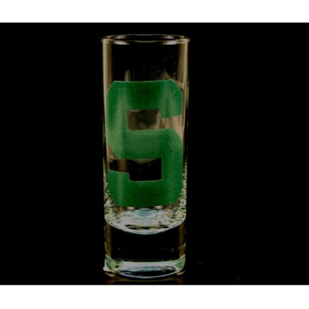 """Michigan State Spartans NCAA """"Hype"""" Tall Shot Glass"""