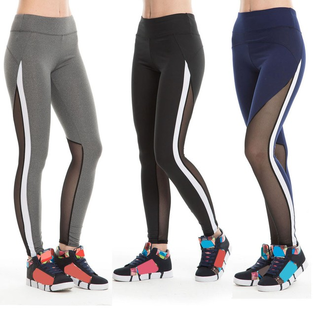 Women's Athletic Slim Mesh Leggings