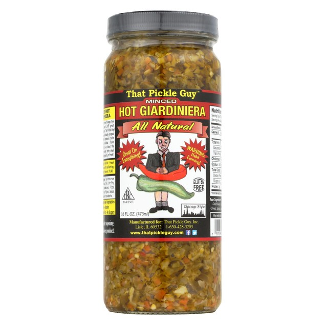 That Pickle Guy Giardiniera - Hot - Minced - Pack of 12 - 16 fl oz
