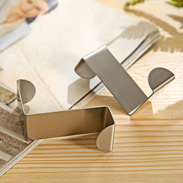 2PCS Stainless Practical Door Hook Clothes Hanger Kitchen Cabinet
