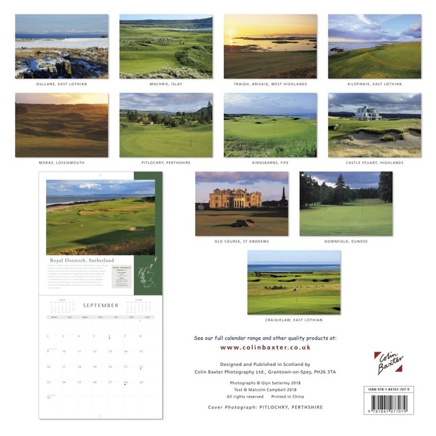 Scottish Golf Wall Calendar, Scotland by Colin Baxter Photography