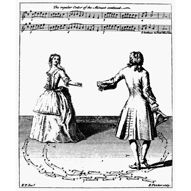 Dance: Minuet, 1735. /Nline Engraving From Kellom Tomlinson'S 'Art Of Danci