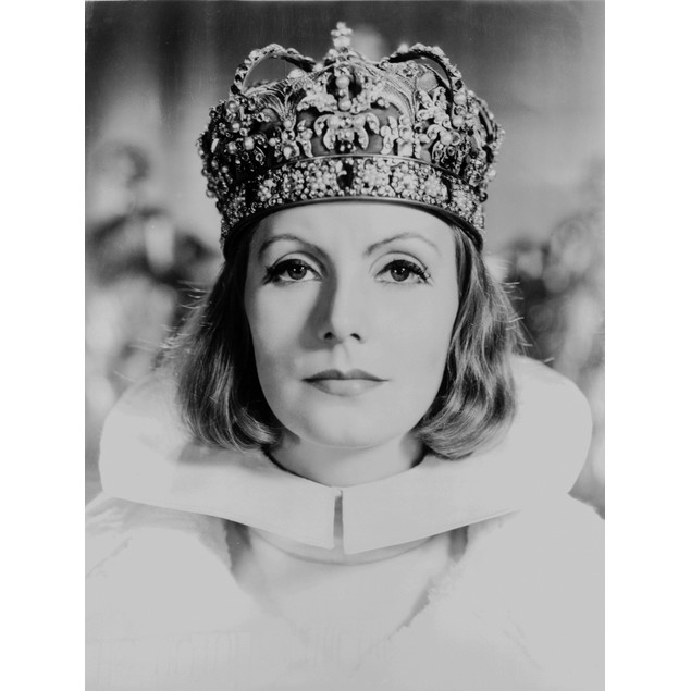 Greta Garbo in a Crown Close Up Portrait Poster