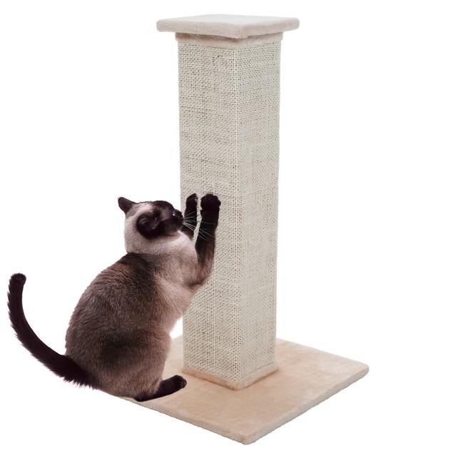 PETMAKER 28 inch Sisal Burlap Cat Scratching Post