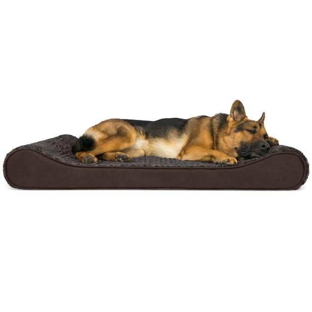 Minky Plush & Velvet Luxe Lounger Orthopedic Pet Bed