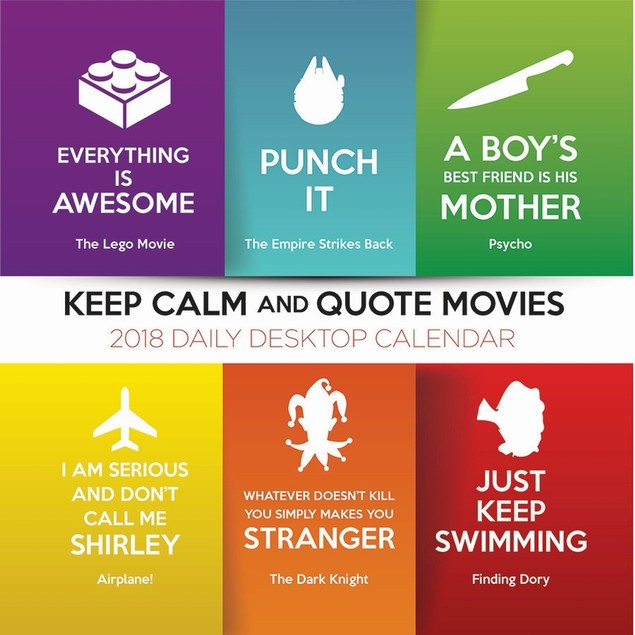 Keep Calm and Quote Movies Desk Calendar, Classic Movies by Calendars