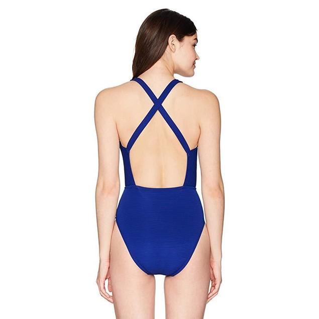 La Blanca Women's V-Front Cross Back One Piece Swimsuit SZ: 6