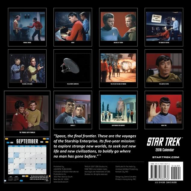 Star Trek Original Series Wall Calendar