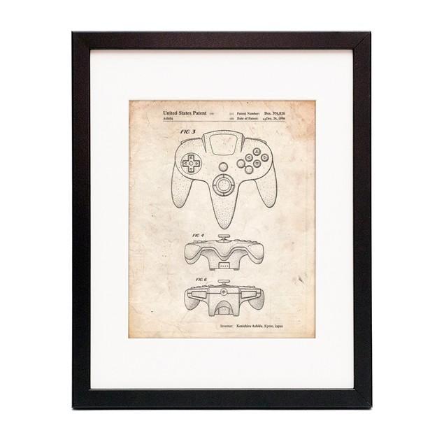 Nintendo 64 Controller Patent Poster