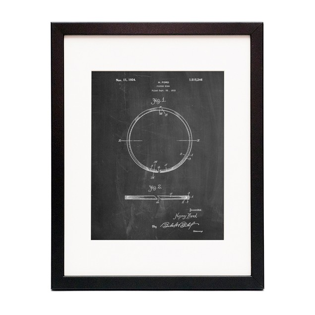 Piston Ring Patent  Poster