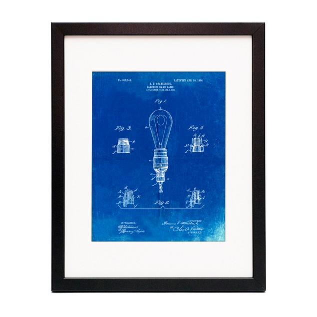 Large Filament Light Bulb Patent Poster