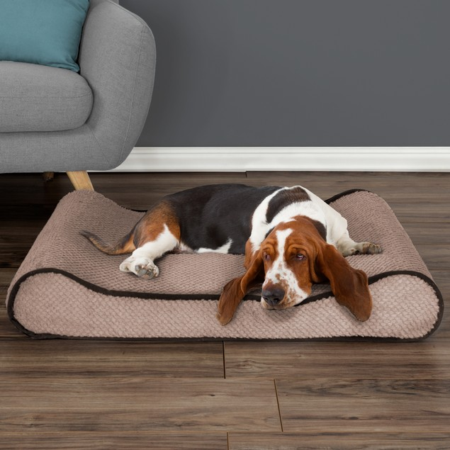 Orthopedic Pet Bed Lounger with Memory Foam
