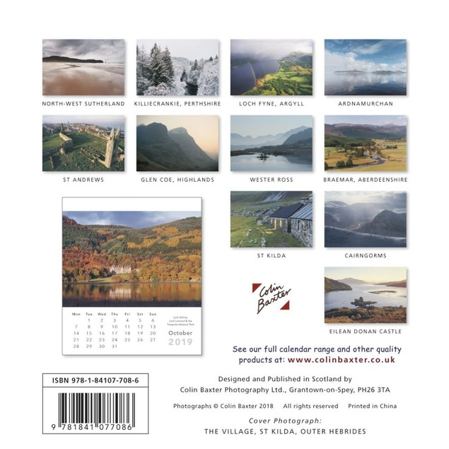 Scotland Desk Calendar, Scotland by Colin Baxter Photography