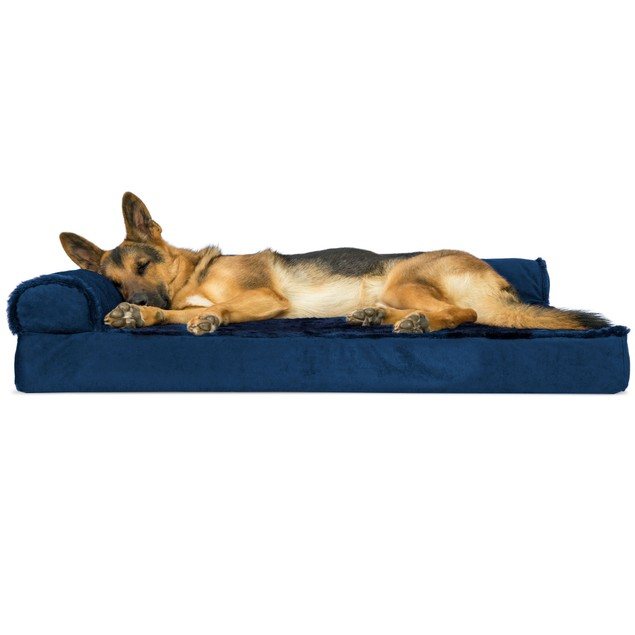 Plush & Velvet Deluxe Chaise Lounge Orthopedic Sofa-Style Pet Bed